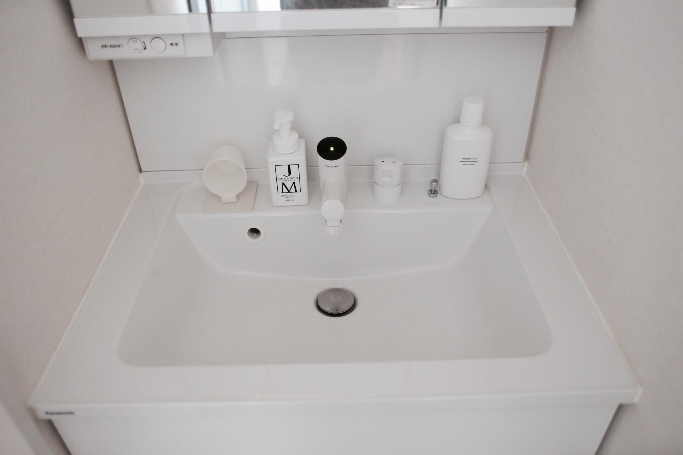 《web内覧会2019》リビング内洗面所1 タッチレス水栓はメリットたくさん!使い勝手抜群!