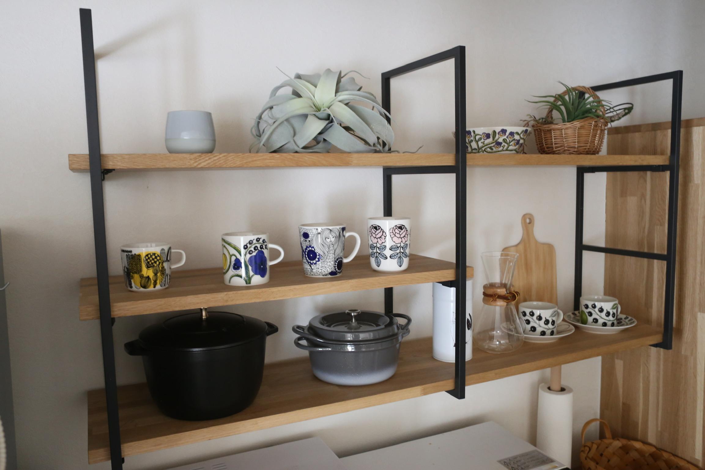 《web内覧会2019》キッチン背面収納2 造作と既製品の組み合わせで作る自分好みの背面収納